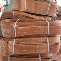 China CE approved 100% High Tensile Polyester lifting belt crane double ply Flat Webbing Sling 6 ton on sale