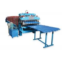 Quality Metal Roofing Sheet Double Layer Roll Forming Machine By Chain Hydraulic Decoiler wholesale