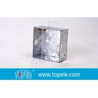 Quality Pre-Galvanized Steel Electrical Boxes And Covers , British Standard BS Box For Switches wholesale