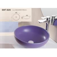 Best Sanitary Ware Self Cleaning Color Art Wash Basin With Solid Surface Round Shape wholesale