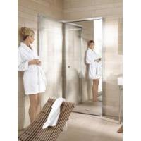 China Glass shower enclosure with glass sliding door made by stainless steel glass fittings on sale
