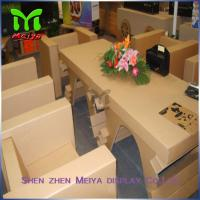 Cheap Color Printing Foldable Corrugated Cardboard Kids Furniture For Exhibition And for sale
