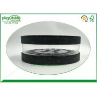 Best Cosmetics Circular Clear PVC Tubes Packaging Clear Window Paper Tube wholesale