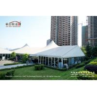 China 500 People Outdoor High Peak Tents With Hard Glass Wall for Auto Show on sale