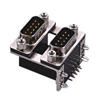 Best D type  two part  with fork Right Angle Dual Row D Sub Connector PBT black 15 Pin wcon ROHS wholesale