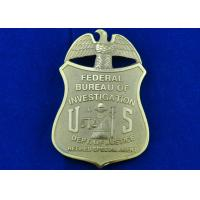 Best Brass Stamped Federal Bureau Investigation Badge, Clip Souvenir Badges with Die Cast, Die Struck, Stamped wholesale