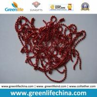 Best Fashionable Hot Sale in Europe Christmas Red Metal Ball Chain wholesale