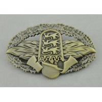 Best Soft Enamel Die Cast Medals , 4.0mm Custom University Gold Medal With Ribbon wholesale