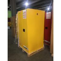 Best Yellow Industrial Safety Cabinets , Flame Proof Storage Cabinets With Double Lock 60 galloncapacity wholesale