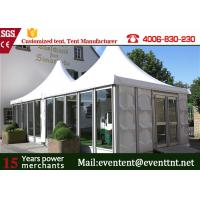 China Glass Wall Custom Event Tents Leisure Entertainment For 50 Peoples 8 X 8m Size on sale