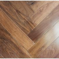 China American Walnut Fishbone wooden floors, American walnut herringbone flooring on sale