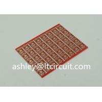 Best Gold Plated Red Double Sided PCB Semi Holes Side Rails White Lenged wholesale