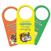 Cheap Door Hanger 3D PET Lenticular Card Printing For Hotel / Home Caution for sale