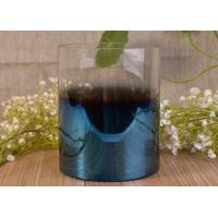 Best Vertical Wedding Decoration Glass Candle Jars With Iridescent Ombre Electroplated wholesale