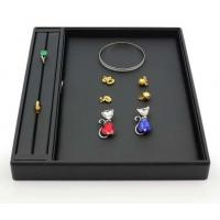 Best Velvet Material Jewelry Storage Trays Exhibition Showcase Trays For Ring / Necklace wholesale