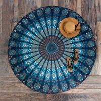 Best Round Beach Throw Tapestry Hippy Boho Gypsy Cotton Tablecloth Beach Towel wholesale
