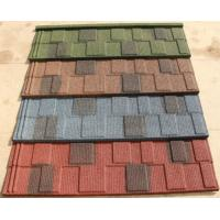 Best Shingle Stone Chip Coated Steel Roof Tiles 1340*420mm colorful stone chips wholesale