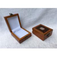 China Metal Locked Rectangular Gift Box For Watches Collection , Solid Red Wooden on sale