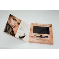 China Advertising LCD video card , video booklet with customized brochure size 7inch 4GB A5 Size on sale