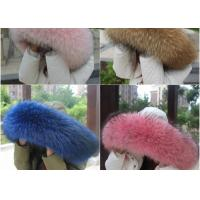 Best Raccoon fur collar 100% Real Raccoon Fur Collar Large fur Trim Accessories wholesale