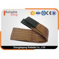 Cheap High Tensile Polyester Flat Web Sling Rigging Lifting Strap with 6T Capacity for sale