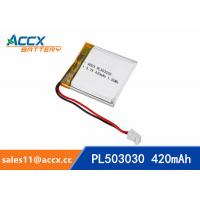 Best 503030 3.7V 420mAh Small battery Lipo battery lithium polymer battery for digital devices,bluetooth speaker wholesale
