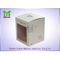 Cheap Recycled C1s Crown Gift Packaging Boxes With Pvc Window , Two Sides Printing for sale