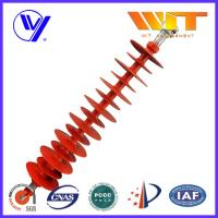 China 110KV Hang Type Rod Model Red Polymer Suspension Insulators Pin Post on sale