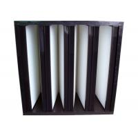 Best Secondary V Cell Industrial Air Filters Fiberglass Air Filter With ABS Plastic Frame wholesale