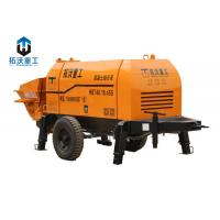Best Remote Control Concrete Mixer Pump , Stationary Concrete Pump 45KW Motor Power wholesale