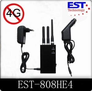 Best 4G Portable Cell Phone Jammer / Blocker / Isolator EST -808HE4 For Military wholesale