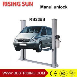 Best 2 post car hoist used automotive workshop equipment with manual unlock wholesale