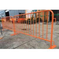 Best Orange Portable Crowd Control Barriers Security Temporary Road Barriers wholesale