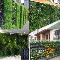Best PE Fabric Reusable Hanging Flower Bags , Vertical Garden Planters For Vegetable wholesale