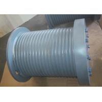 Best Marine Hydraulic Winch Drum With Rope Groove、Rope Inlet、Rope Hold Down, Gray Steel Drum. wholesale