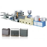 Best Decorative Single Screw Plastic Extrusion Machine For PVC Faux Marble Board wholesale