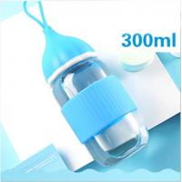 Best Blue BPA Free Baby Bottles , Safe Baby Feeding Bottles With Silicone Lid wholesale