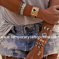 Details of latest temporary fashion bracelet tattoo for Gold foil tattoo