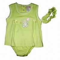 Best Baby Romper with Printed Wordings Design, Made of 100% Cotton, Interlock, OEM Orders are Welcome wholesale