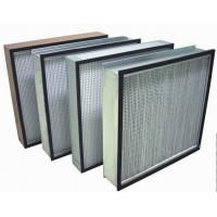 China Biological HEPA Clean Room Air Filters , H14 99.995% Box Filter on sale