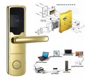 Best High Security Software Management System RF Hotel Door Lock Electronic Door Latches wholesale