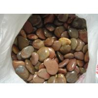 Best Beautiful Decorative Landscaping Stone Red Polished Coloured Pebbles For Garden wholesale