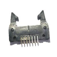 Best Long Latch 2.54 Mm Pitch Pin Header , PBT Straight 14 Pin Header Connectors wholesale