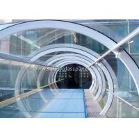 Quality Green House Tempered / Laminated Safety Glass , Curved  Sheet Glass Panels wholesale