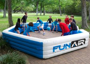 Best Funny Portable Interactive Inflatable Gaga Ball Pit / Inflatable Gaga Ball Court For Kids Outdoor Games wholesale