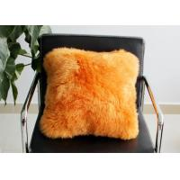 Best Long Wool Decorative Pillows For Couch , Chair Brown Fur Throw Pillows Cover wholesale