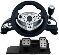 China Universal Wired Video Game Steering Wheel Compatible Vista32 / Vista64 on sale
