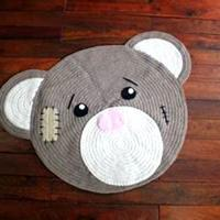 Best Amazon Hot sale!  Bear Shaped Placements Baby Dinner  Mat wholesale