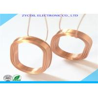 Cheap Square Air Core Inductor Coil Bobbin , Gold Copper Induction Coil Winding for sale