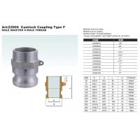 Cheap Aluminum cam groove coupling type A with BSP or NPT thread in gravity casting or die casting for sale